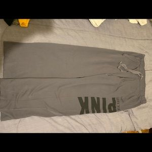 grey Victoria's Secret sweatpants
